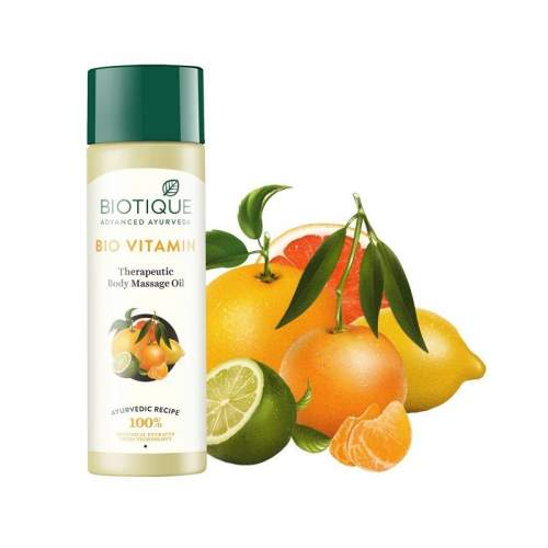 Терапевтическое массажное масло для тела Биотик Био Витамин (Biotique Bio Vitamin Therapeutic Body Massage Oil), 200мл