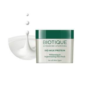 Омолаживающая маска для лица Биотик Био Протеин (Biotique Bio Milk Protein Whitening&Rejuvenating Face Pack), 50г