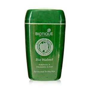 Скраб для лица Биотик Био Грецкий Орех  (Biotique Bio Walnut Purifying&Polishing Scrub), 50мл
