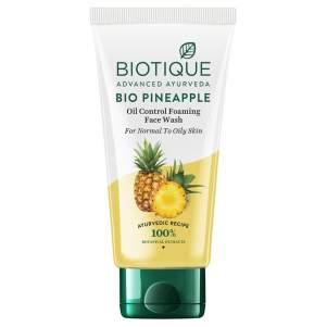 Гель-пенка для умывания для жирной кожи Биотик Био Ананас (Biotique Bio Pineapple Oil control Foaming face wash), 100мл