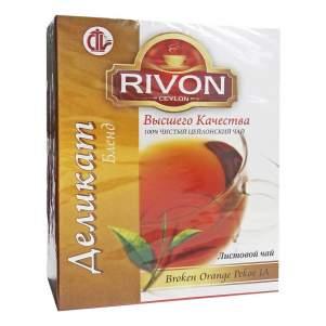 Чай цейлонский чёрный премиум-качества Деликат Бленд Ривон (Rivon Ceylon Premium Quality Delicate Blend Black Tea), 100г