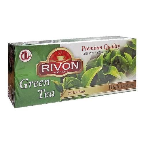 Чай цейлонский зелёный высокогорный премиум-качества Ривон (Rivon Ceylon Premium Quality High Grown Green Tea), 25шт