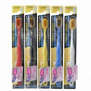 Зубная щетка с широкой чистящей головкой и супертонкими щетинками Create (средней жесткости), 1шт