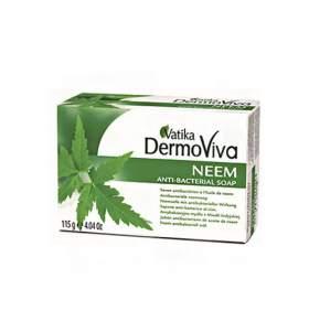 Антибактериальное мыло с нимом Дабур Ватика Дермовива (Dabur Vatika DermoViva Neem Anti-Bacterial Soap), 115г