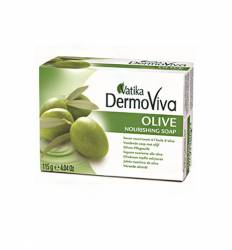 Питательное мыло с оливой Дабур Ватика Дермовива (Dabur Vatika DermoViva Olive Nourishing Soap), 115г