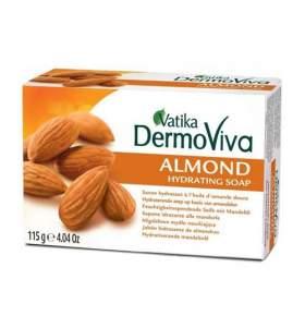 Увлажняющее мыло с миндалем Дабур Ватика Дермовива (Dabur Vatika Dermoviva Almond Hydrating Soap), 115г