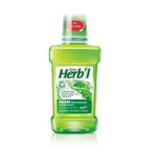 Ополаскиватель для полости рта Дабур Травяной Антибактериальный с Нимом (Dabur Herb'l Neem), 250мл