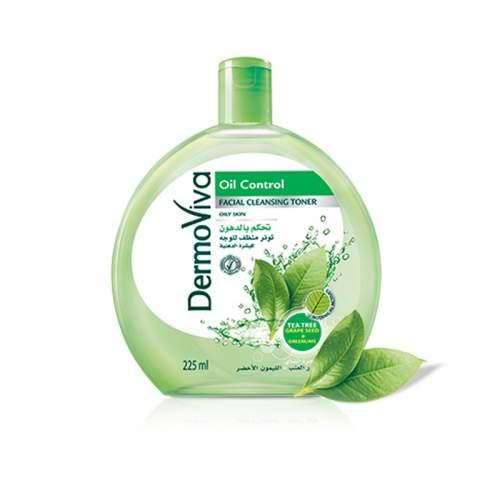 Тоник для лица Контроль блеска с маслом чайного дерева Дабур ДермоВива (Dabur DermoViva Oil Control Facial Cleansing Toner), 225мл