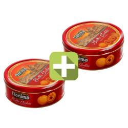 """Акция 2 по цене 1! Индийское сливочное печенье """"Данима"""" в красной ж/б (Butter cookies Danima), 340г"""