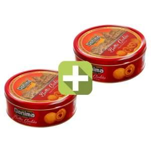 Акция 2 по цене 1! Индийское сливочное печенье Данима в красной ж/б (Butter cookies Danima), 340г