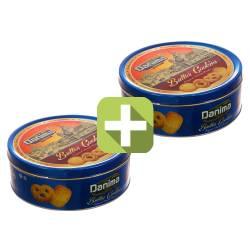 Акция 2 по цене 1! Индийское сливочное печенье Данима в синей ж/б (Butter cookies Danima), 340г