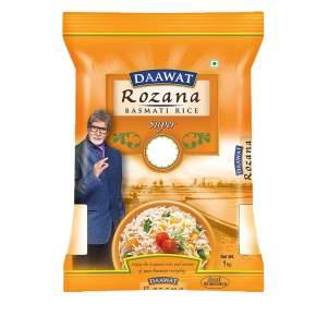 Рис басмати Супер Даават Розана (Daawat Rozana Rice Basmati Super), 1000г
