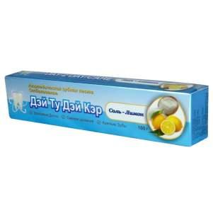 Аюрведическая зубная паста Отбеливание Соль-лимон Дэй Ту Дэй Кэр (DAY 2 DAY CARE  Whitening Salt-lemon), 100г