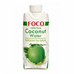 Кокосовая вода натуральная без сахара FOCO (coconut water FOCO), 330мл