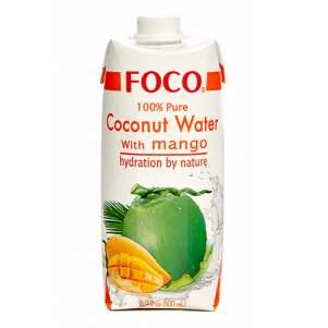 Кокосовая вода с манго FOCO (coconut water mango FOCO), 500мл