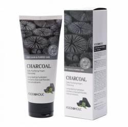 Пенка для умывания с черным углем ФудаХолик (FoodaHolic Charcoal Daily Purifying Foam Cleansing), 180мл