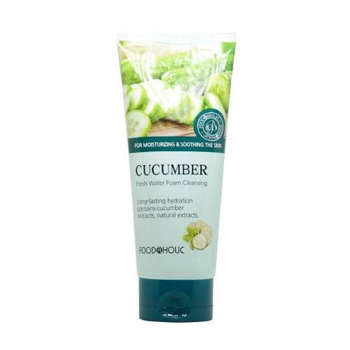 Пенка для умывания с огурцом ФудаХолик (FoodaHolic Cucumber Fresh Water Foam Cleansing),180мл
