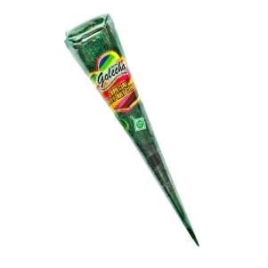 Зелёная хна с блёстками для мехенди в конусе Голеча (Golecha Glitter Henna Cone), 25мл