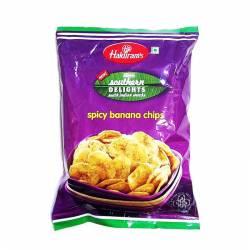 Пряные банановые чипсы Халдирамс (Spicy banana chips Haldiram's), 200г