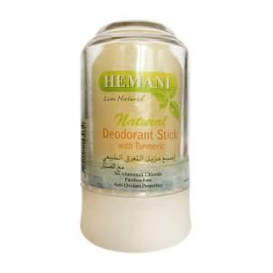 Минеральный дезодорант с куркумой Хемани (Deodorant Stick with Turmeric Hemani), 70г