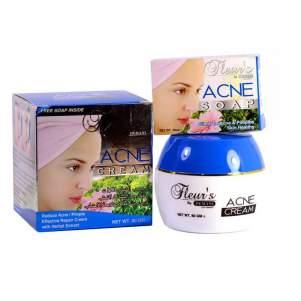 Крем против акне очищающий от угрей и прыщей Хемани (Fleur's acne cream Hemani), 80г