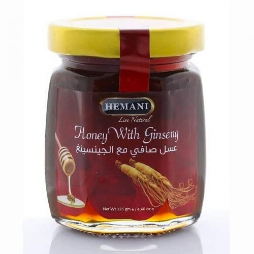 Мёд с Женьшенем Хемани (Honey with Ginseng Hemani), 125г