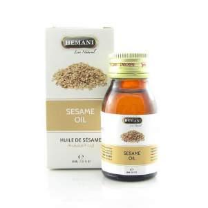 Кунжутное масло натуральное холодного отжима Хемани  (Sesame Oil Hemani), 30мл