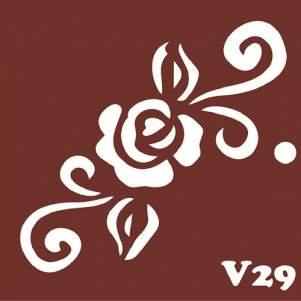 Многоразовый трафарет для мехенди V29