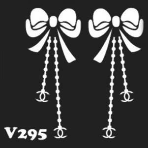 Многоразовый трафарет для мехенди V295