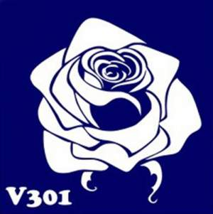 Многоразовый трафарет для мехенди V301