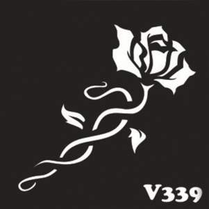 Многоразовый трафарет для мехенди V339