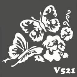 Многоразовый трафарет для мехенди V521