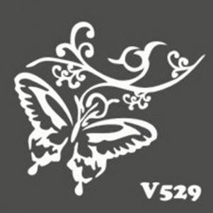 Многоразовый трафарет для мехенди V529