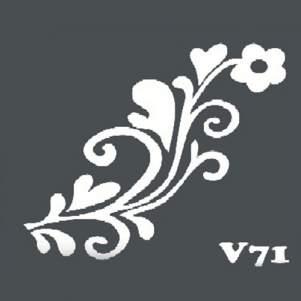 Многоразовый трафарет для мехенди V71