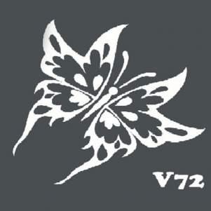 Многоразовый трафарет для мехенди V72