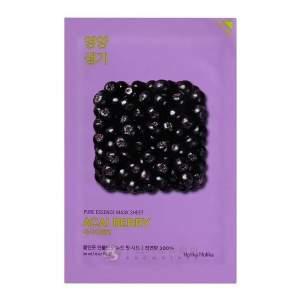 "Витаминизированная тканевая маска для лица Пьюр Эссен"" ягоды асаи  (Holika Holika Pure Essence Mask Sheet Acai Berry), 20мл"