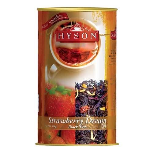 Чай чёрный листовой Клубничная мечта Хайсон (Hyson Black tea Strawberry Dream), 100г
