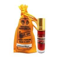 Духи-масло (шариковые) Африканская Фиалка Индийский Секрет (The Indian Secret Natural Perfume Oil African Violet), 10мл