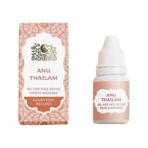 Масло Ану Тайлам для носа и массажа активных точек лица Индиберд (Indibird Anu Thailam Oil for Face Active Points Massage), 10мл