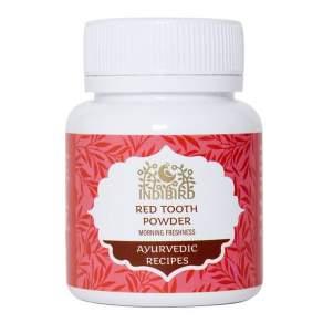 Зубной порошок красный Утренняя Свежесть Индиберд (Indibird Red Tooth Powder), 50г
