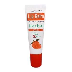 Бальзам для губ Апельсин Карнани (Karnani Lip Balm Herbal Orange), 10г