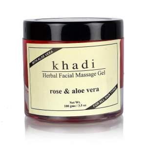 Массажный Гидрогель для лица Роза и Алоэ вера Кхади (Khadi natural Rose & Aloevera Facial Massage Gel), 100г