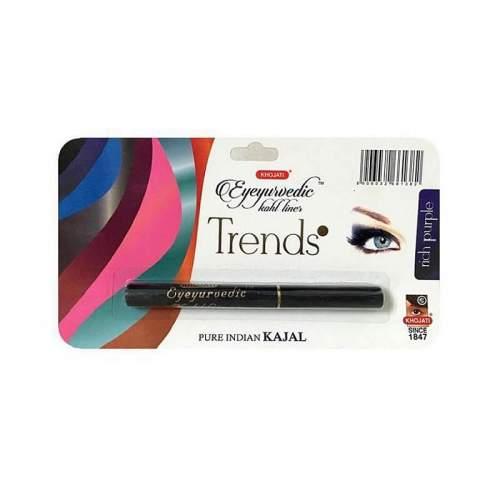 Натуральная подводка-карандаш с кокосовым и маслом гхи Насыщенный Фиолетовый Кходжати Трендс (Rich Purple Liner Khojati Trends), 0,25г