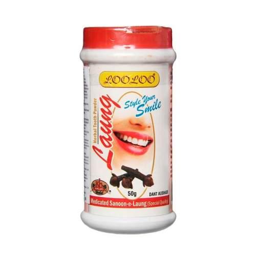 Зубной порошок Гвоздичное масло Кходжати Лулу (Khojati LooLoo Laung Herbal Tooth Powder), 50г