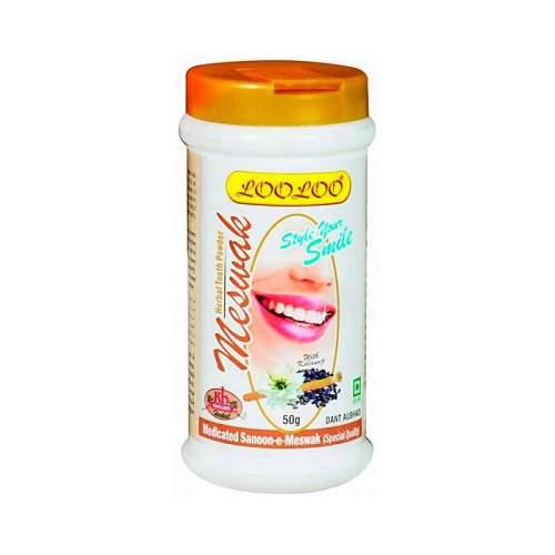 Зубной порошок Мисвак Кходжати Лулу (Khojati LooLoo Meswak Herbal Tooth Powder), 50г