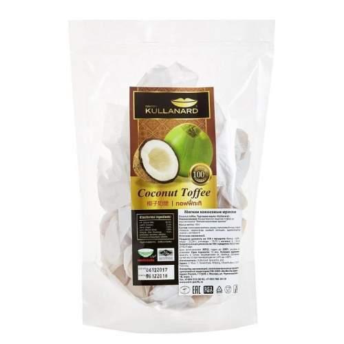 Кондитерское изделие тоффи со вкусом кокоса Мягкие кокосовые ириски Kullanard (Coconut Toffee Kullanard), 150г