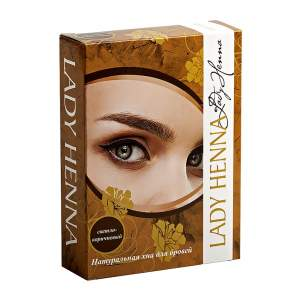 Натуральная светло-коричневая хна для бровей Леди Хенна (Lady Henna), 10г