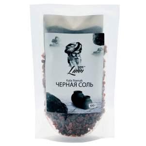 Чёрная соль в пластиковом пакете Лун (Black Salt Lunn), 100г
