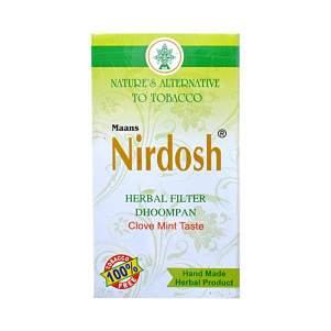 Аюрведические ингаляторы с фильтром Нирдош ментол (Nirdosh Herbal Filter Dhoompan), 10шт