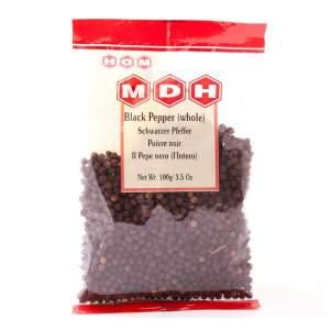 Чёрный перец горошек Махашиан Ди Хатти (MDH Black Pepper), 100г
